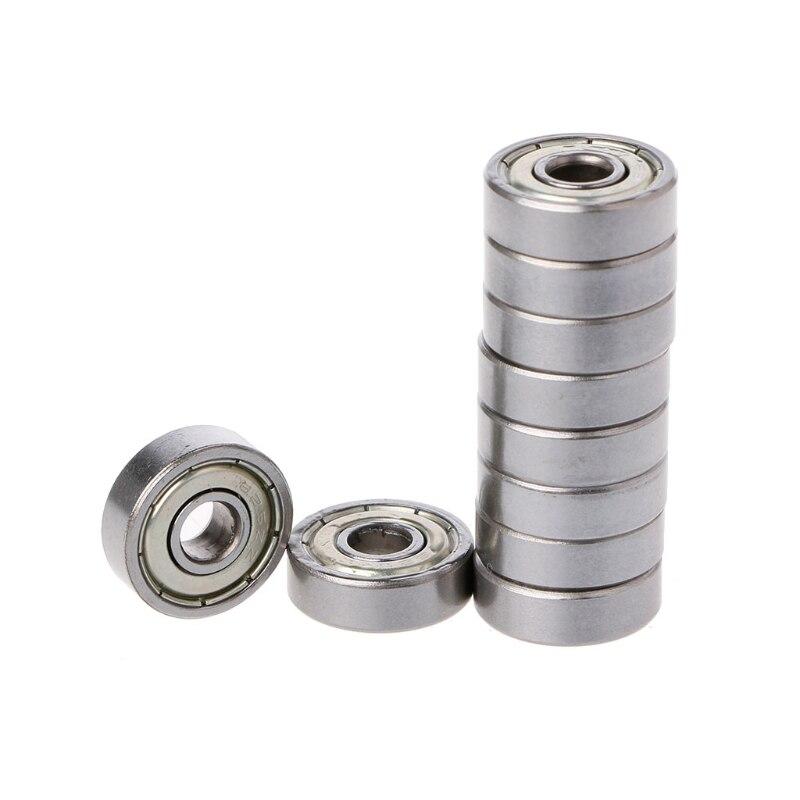 10Pcs 625ZZ Mini Metal Double Shielded Flanged Ball Bearing For 3D Printer Parts10Pcs 625ZZ Mini Metal Double Shielded Flanged Ball Bearing For 3D Printer Parts