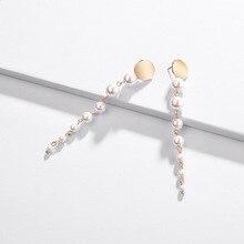 Joolim Jewelry Wholesale Irregular Pearls Earring Long Party Statement