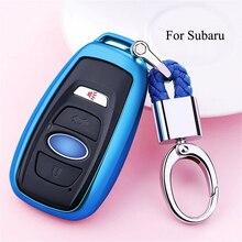 Автомобильный Стайлинг Мягкий ТПУ Автомобильный ключ чехол оболочка брелок для Subaru Forester Outback Legacy Impreza XV BRZ чехол для автомобиля аксессуары