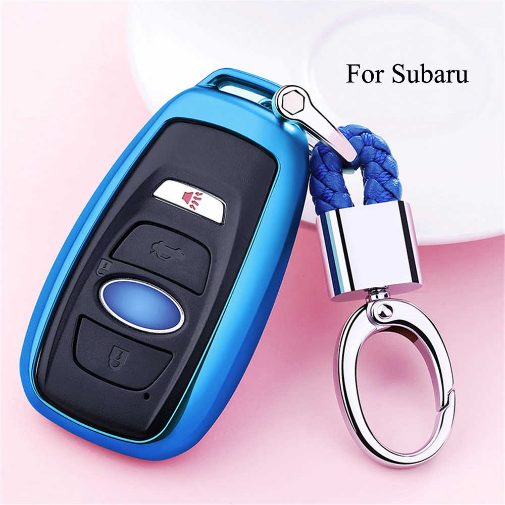 Car Styling Soft TPU Car Key Case Shell Key Chain For Subaru Forester Outback Legacy Impreza XV BRZ Cover Case Car Accessories