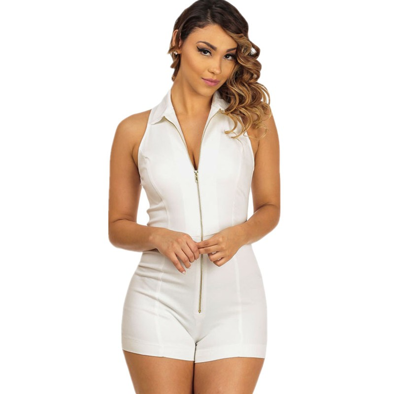 White-Sleeveless-Fitted-Shirt-Collar-Romper-LC64054-1