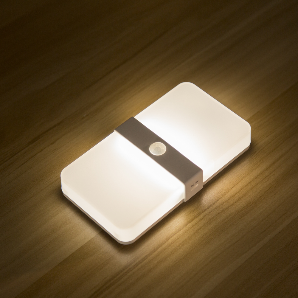 Two color rechargeable Magnetic Motion Sensor led cabinet Light