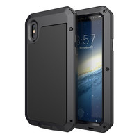 Luxury Doom Armor Duty Shock Life waterproof Metal Aluminum Phone Cases For Iphone 8 X 7 SE 4 4S 5 5C 5S 6 6S with Protect Film