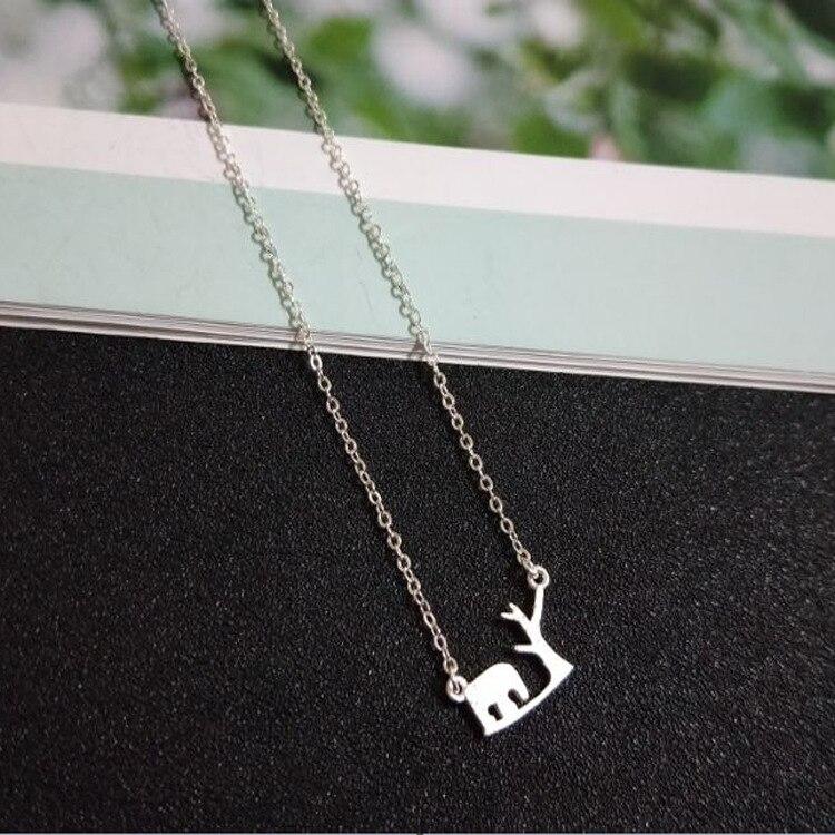 Новый серебряное ожерелье Простой и простой отраслях, как модели ожерелье женские серебряные ювелирные изделия SS02