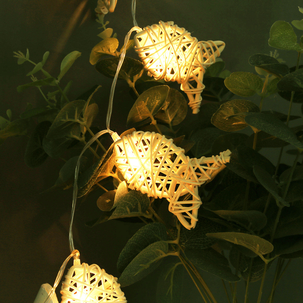 10 Leds Creative Led String Light Fish Rattan+Copper Battery Powered Christmas Decoration Indoor/Outdoor For Party,Wedding,Bar