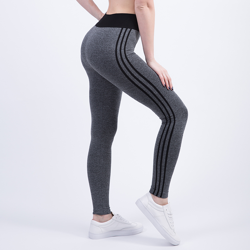 Tresdin New Women Sexy Cropped Leggings High Waist Elastic Wicking Force Exercise Female Elastic Stretchy Leggings Slim Trousers 2