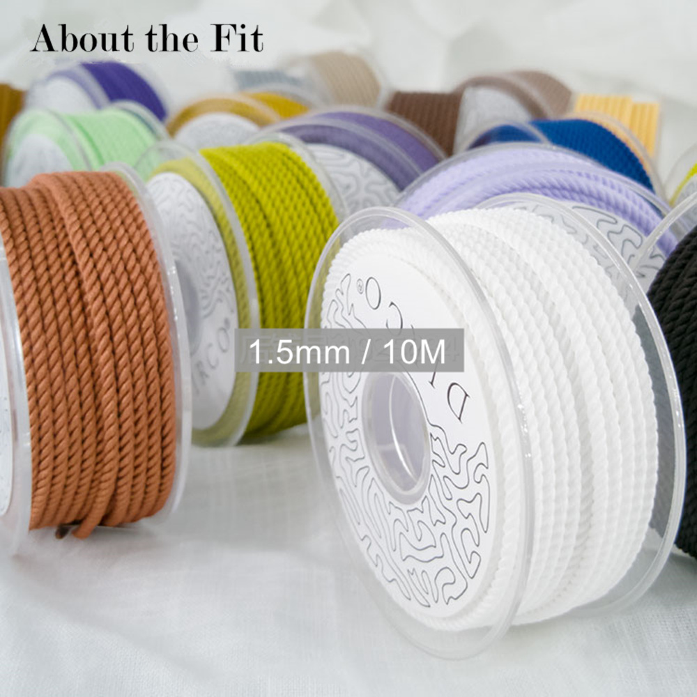 About the Fit 1.5mm 10M Braided Milan Silk Cords Jewelry Accessories Thread Bracelet Necklace Making Beading Crafting Woven Lace
