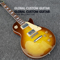 2017 New Wholesale Custom Shop The Sun Orange Color Electric Guitar Standard LP Electric Guitar HOT