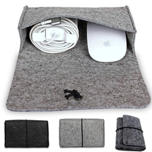 Digital Storage Bag, Wool Felt Bag Pouch For Macbook Laptop computer Adapt And Mouse Charger USB Cable Energy Bag Sleeve For Macbook