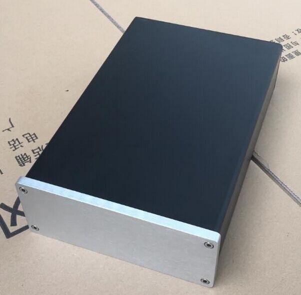 AUDIO HEADPHONE CHASSIS Full Aluminum Preamp DIY Enclosure Box Case 155*60*261mm