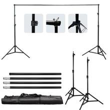 Bonne qualité 2.6 M X 3 M Pro Photographie Photo Backdrops Fond Support Système Stands Pour Photo Vidéo Studio + sac de transport