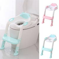 Baby Child Potty Toilet Trainer Seat Step Stool Ladder Adjustable Training Chair E1