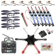 F05114-J F550 Drone Heli FlameWheel Kit With KK 2.3 Flight Controller ESC Motor Carbon Fiber Propellers + RadioLink 6CH TX RX