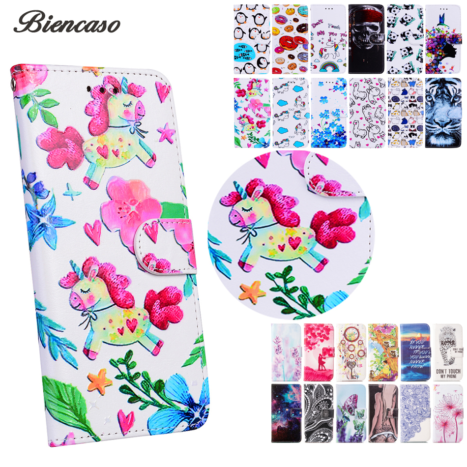 PU Leather Coque For Huawei P10 Lite Case Card Holders Cover For Huawei P8 Mini P9 Lite Honor 6A Y5 II Y5II Wallet Cases B113
