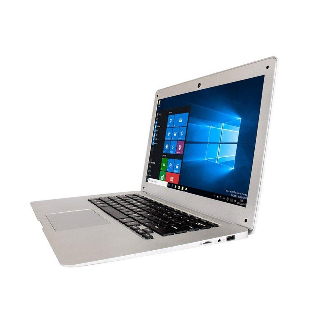 Джемпер оригинального ультратонкий ноутбук 14.1 дюймов Оконные рамы 10 Тетрадь 1920x1080 FHD Intel Cherry Trail 4 ядра 4 ГБ + 64 ГБ компьютер