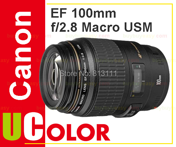 New Canon EF 100mm f/2.8 f2.8 Macro USM Lens объектив canon ef 180mm f 3 5l macro usm