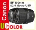 Original New Canon EF 100mm f/2.8 f2.8 Macro USM Lens
