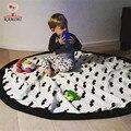 Kamimi 2017 Novos Brinquedos Do Bebê Jogos Catton Lona Sacos de Armazenamento cobertor Cobertores Crianças Barba impresso Futebol Miúdo Bonito Tapete A344