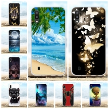 For Samsung Galaxy M10 Case Soft TPU Silicone SM-M105F Cover Beach Patterned Shell
