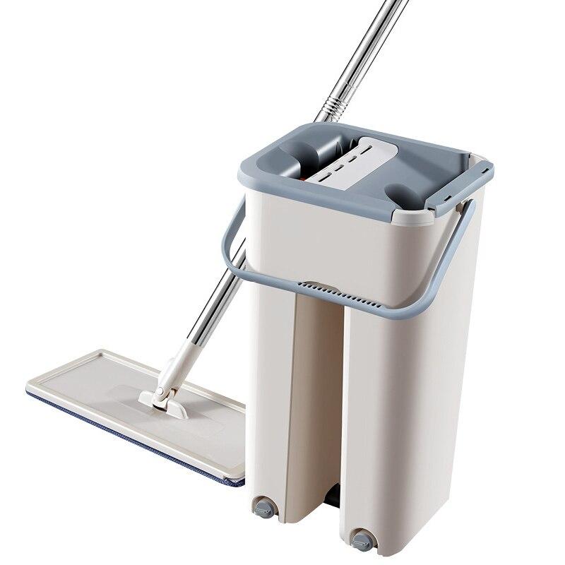 Mop de microfibra de limpeza de pulverizador mágico com balde plana espremer mop casa cozinha piso limpo livre mão rotação
