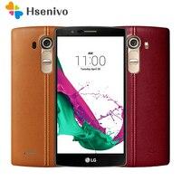 100% סמארטפון מקורי LG G4 H815 H810 האיחוד האירופי Hexa Core אנדרואיד 5.1 3 GB זיכרון RAM 32 GB ROM 5.5 inch טלפון סלולרי 16.0 MP המצלמה 4 גרם LTE