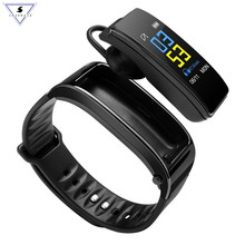Bluetooth Earphone Headphone Smart Talk Band Heart Rate Smartwatch Bracelet With Talking Wristband Dial band