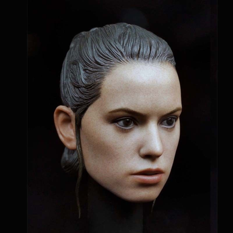 Mnotht Star Wars The Force Awakens 1:6 Rey Head Carving sculpt Movie Actress For 12in Female Body Action Figure Toys Collection mu0999 kosovo 2013 female celebrity film actress stamp 3 new 1116