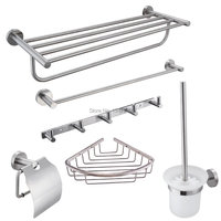 Factory Direct 100% Solid Stainless Steel Modern Style Wall Mounted Bathroom Hardware Accessories Bathroom Vessel Set