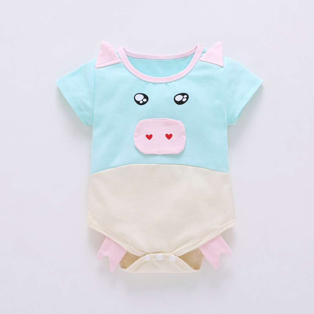 New Baby Rompers Casual 3D Pig Short Sleeve Cotton Soft Overalls Newborn Clothes Roupas Romper Bebe Boys Girls Jumpsuit&clothing