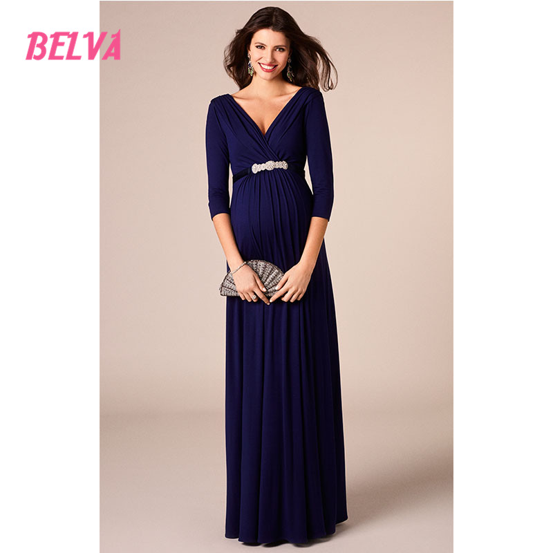 Belva 2017 Elegant Long Maternity Dress Maternity Photography Props  Pregnancy Clothes For Baby Showers DR926(