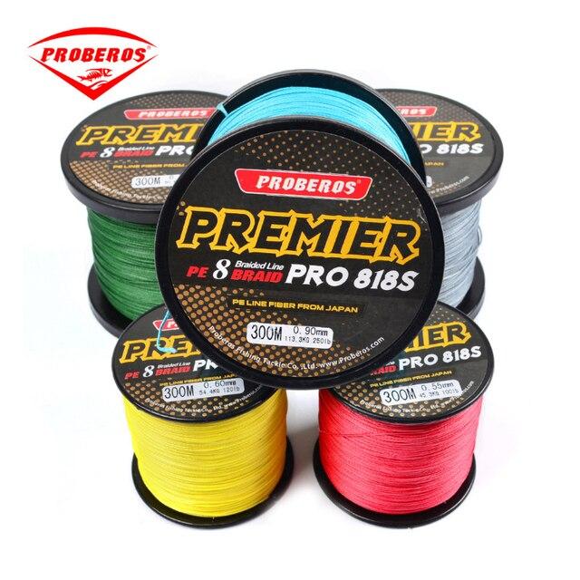 PRO BEROS м 300 м PE 8 плетеная леска 8 нитей 40LB ~ 300LB Multifilament Высокое качество леска