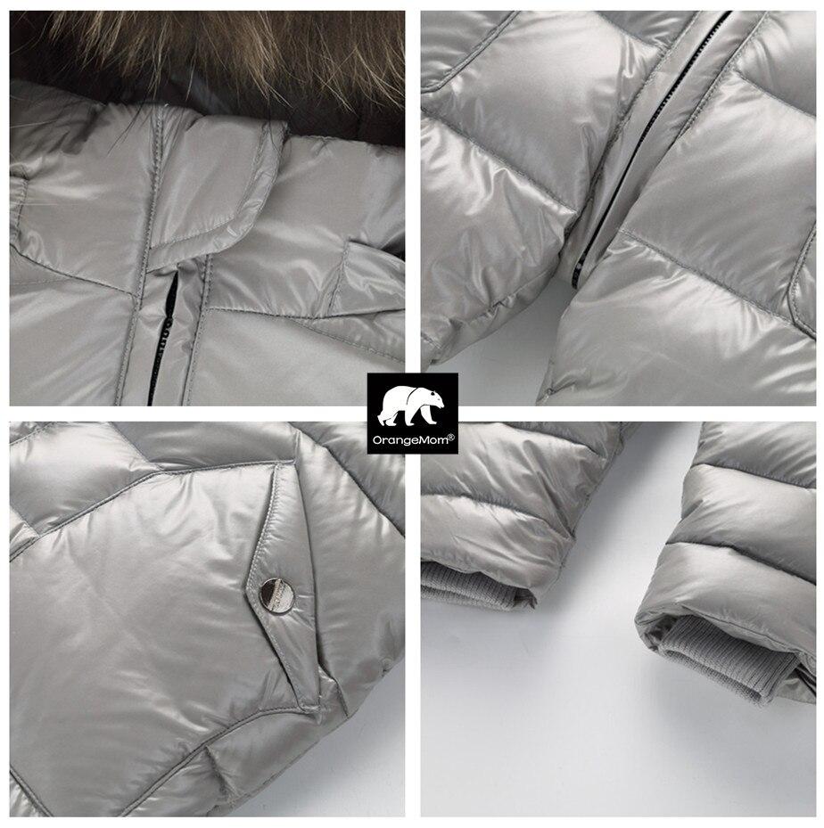 Degré russe hiver vêtements pour enfants doudoune garçons manteaux pour vêtements de dessus, épaissir imperméable snowsuit filles vêtements - 3