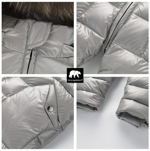 Image 4 - degree Russian winter childrens clothing down jacket boys outerwear coats , thicken Waterproof snowsuits  Girls  Clothing
