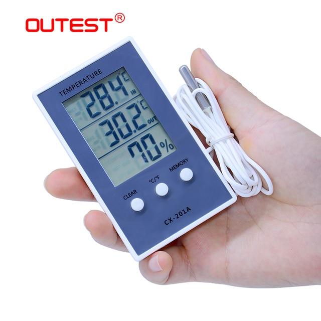 Digital hygrometer indoor/outdoor fish tank temperature humidity thermometer