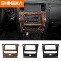 SHINEKA Innenleisten für Nissan Patrol Y62 2017 + Navigation Panel Dekoration ABS Aufkleber für Nissan Patrol Y62