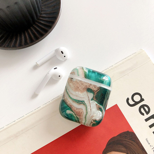Image 2 - Soft Marble Earphones Case For Apple Airpods 2 1 i7 i10 Earbuds TPU Skin Cover Girl Women Protective Cover Shell Birthday Gifts