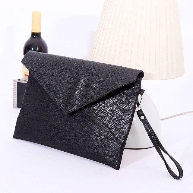 IVI Fashion Korean Women lychee Pattern Handbag Party Evening Envelope Clutch Bag