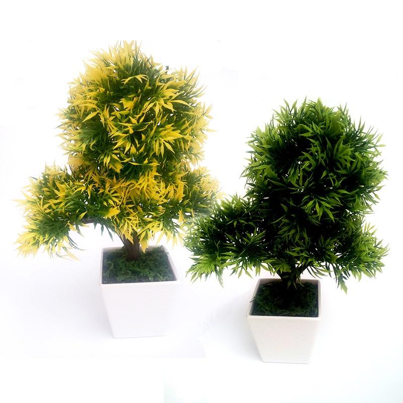 인공 식물 분재 플라스틱 트리 시뮬레이션 꽃 홈 장식 그린 레드 1pcs 무료 배송