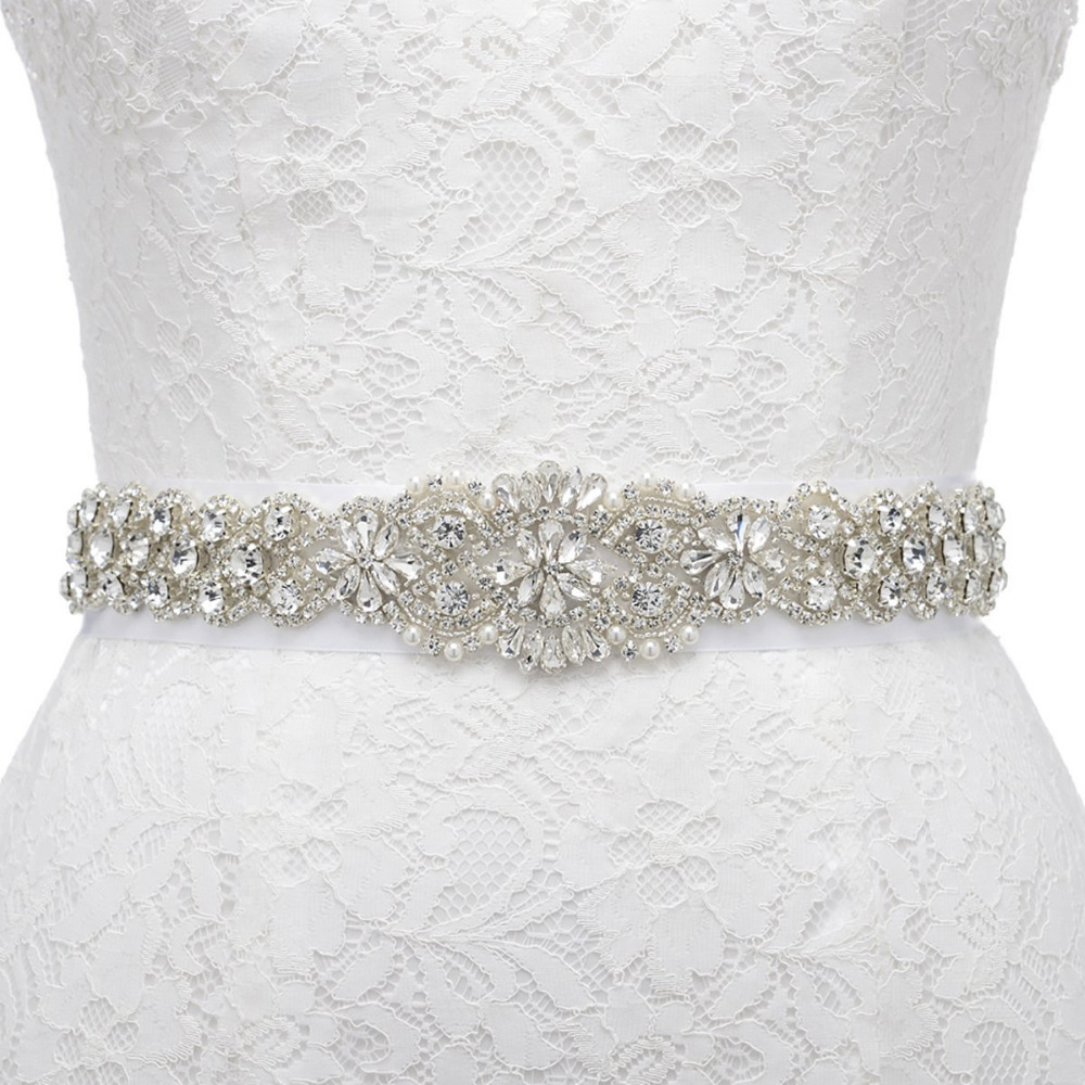 wedding bridal belt rhinestone dress sash prom