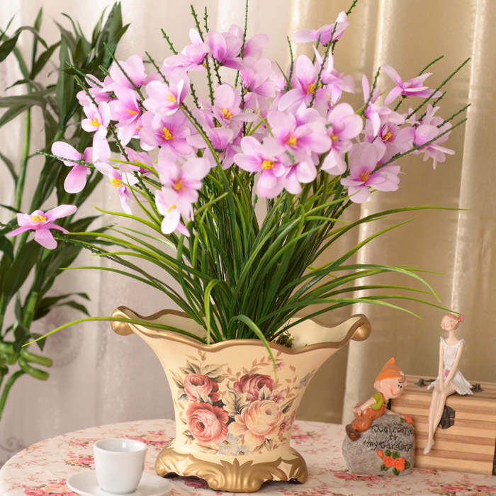 online shop 5pcs simulation flowers fragrant snow blue decoration decoration orchid flowers floral fake flower pot home decoration aliexpress mobile