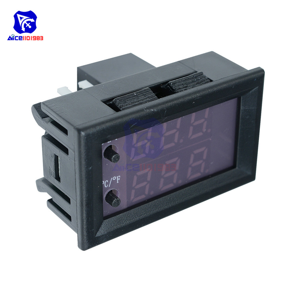 W1209WK 12V 220V LED Digit Thermostat Temperature Controller Thermometer Celsius/Fahrenheit Switch Module with NTC Sensor Probe 8
