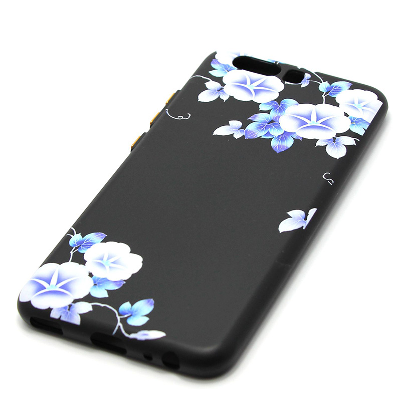 3D Relief flower silicone  case huawei p10 (40)