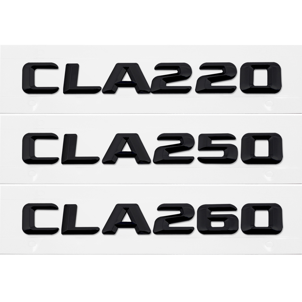 Exterior Accessories Smart For Mercedes Benz Cla Amg Cla220 Cla250 Cla260 W140 Car Styling Rear Sticker Black Plastic Letters Emblem Exterior Accessories A Complete Range Of Specifications