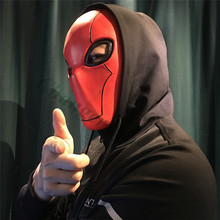Injustice League 2 Red Hood Full Head Latex Helmet Game Cosplay Props