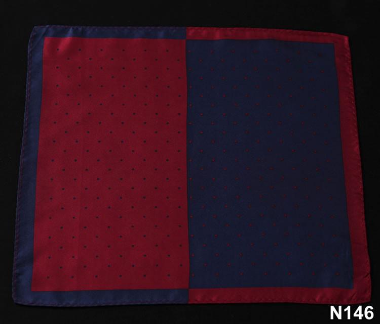 N146 HN14R Red Navy Blue Polka Dot 33cm