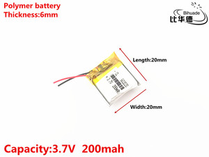 Image 2 - 1pcs/lot 3.7V,200mAH,602020 Polymer lithium ion / Li ion battery for TOY,POWER BANK,GPS,mp3,mp4