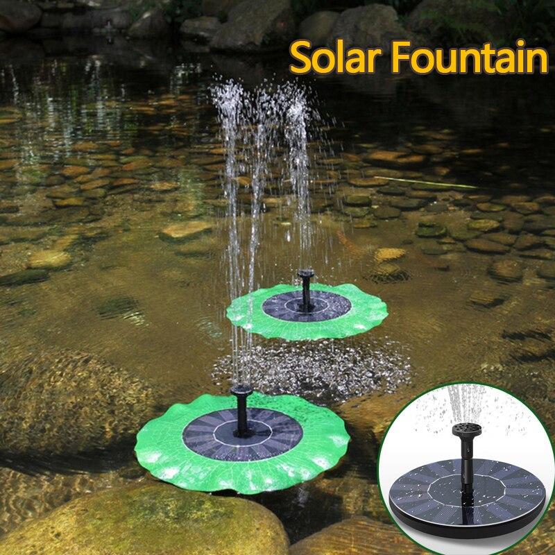 Solar Power Brunnen Garten Sprinkler Solar Brunnen Wasser Sprinkler Schwimm Wasserpumpe Bewässerung Systerm Garten Dekoration