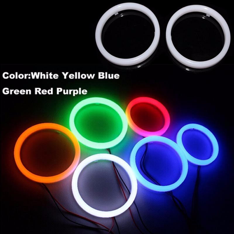 1 SET 4 PCS 70MM 80MM 90MM 100MM LED Car styling Angel eyes auto replacement lamp headlight for all cars