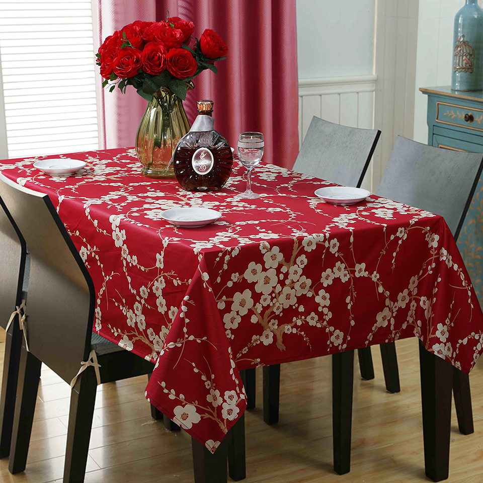 Country Style Flower Print Tablecloth 100% Egyptian Cotton