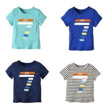 HI&JUBER 2019 Fashion Boys Girls T-Shirts Children Kids Digital Print Cotton T shirts Baby Child Tops Clothing